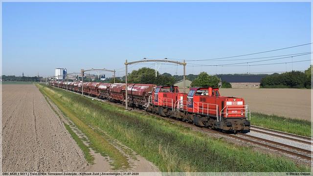 DBC 6520 + 6511 | Zevenbergen | 31-07-2020