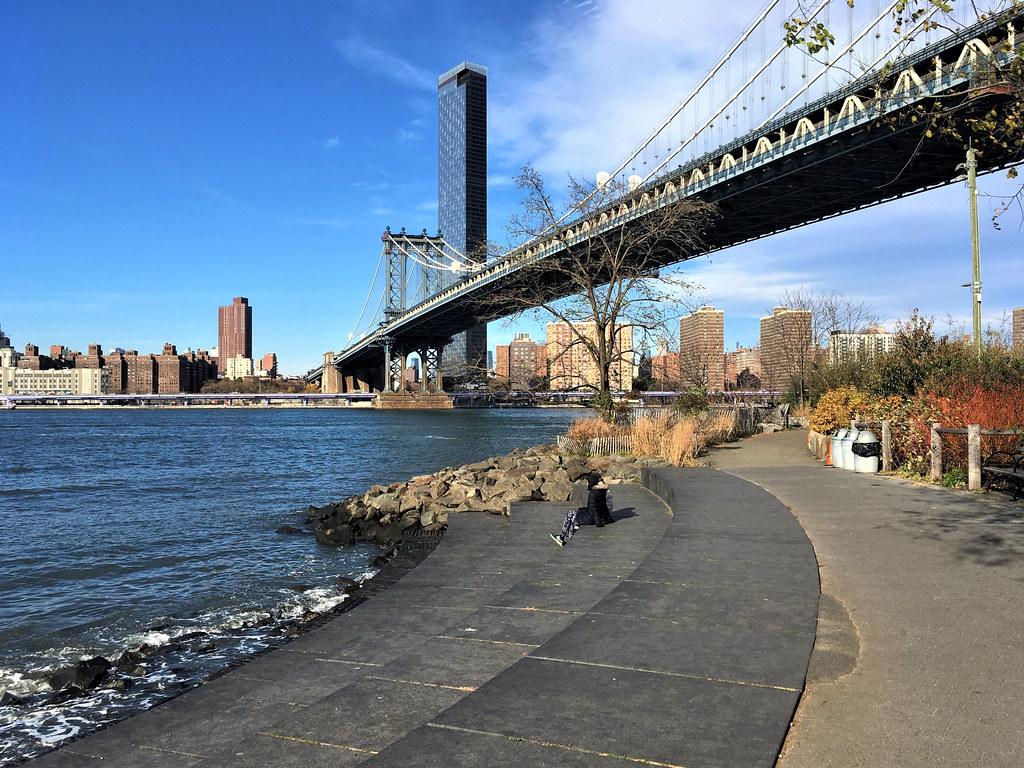 In Brooklyn Bridge Park, By the Manhattan Bridge