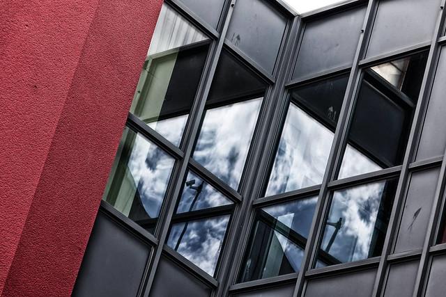 Spiegelung Kino – Iserlohn Innenstadt.
