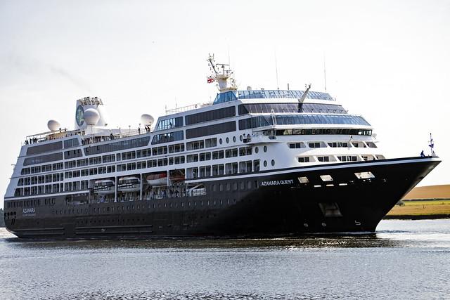 Azamara Quest - departing River Clyde