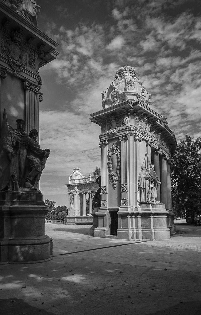 Madrid, parque de El Retiro. (papel)