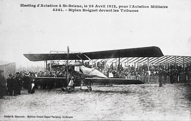 Meeting d'aviation à St-Brieuc le 28 avril 1912 pour l'aviation militaire