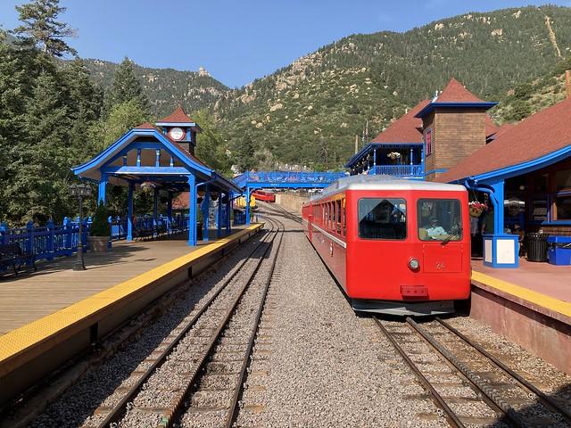 Pikes Peak Cog Railway July 2021 in Manitou Springs, Colorado