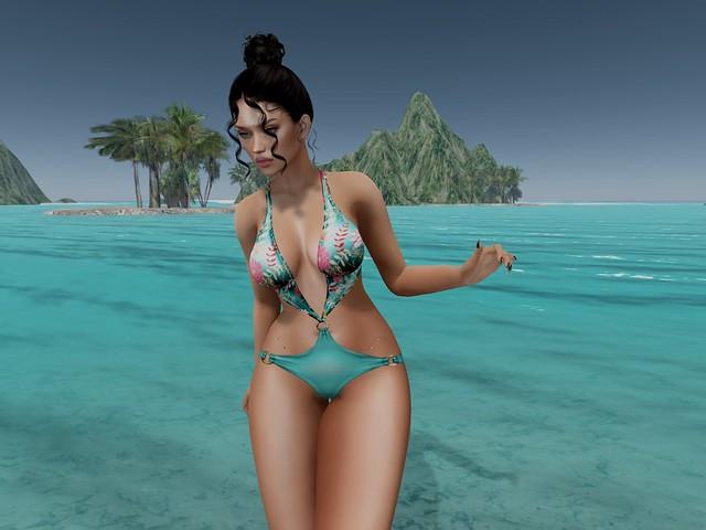 .AMUI. LILO - Swimsuit - AQUA