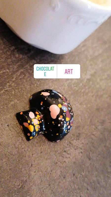 Bombon con setas de Chocolate Line