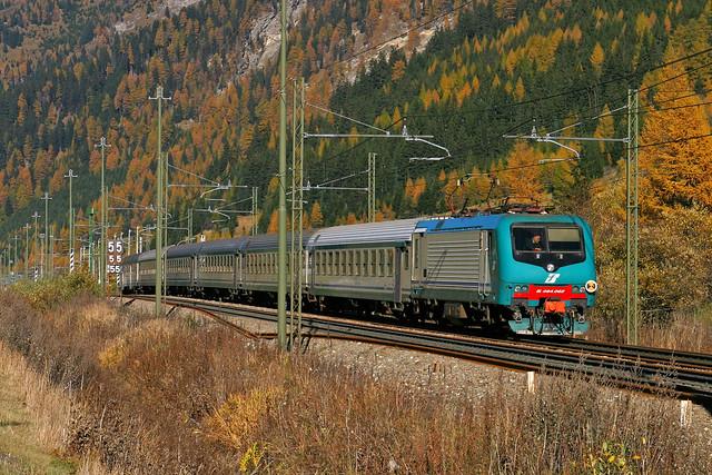 FS E464 062 + Zug/trein/train  Brennero - Merano  - Terme del Brennero