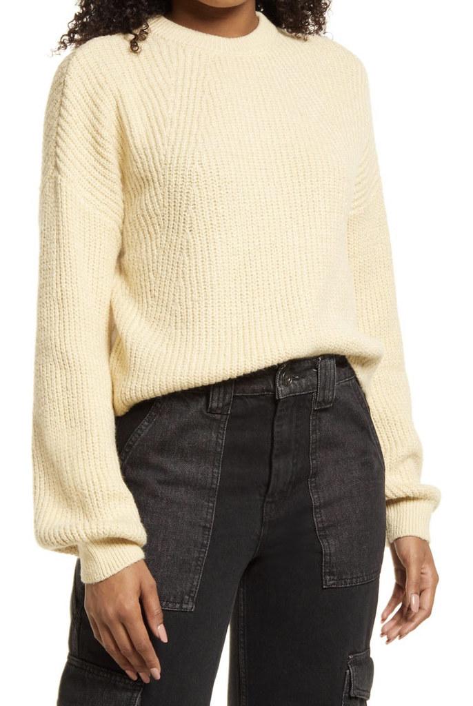 tan cropped sweater