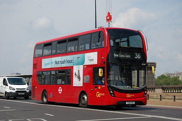 London Central EH249, YX18KSU on 36 - Vauxhall Bridge