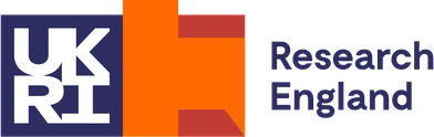 The logo of Research England, UKRI