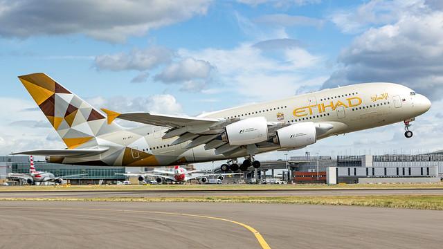 Etihad A380-800.