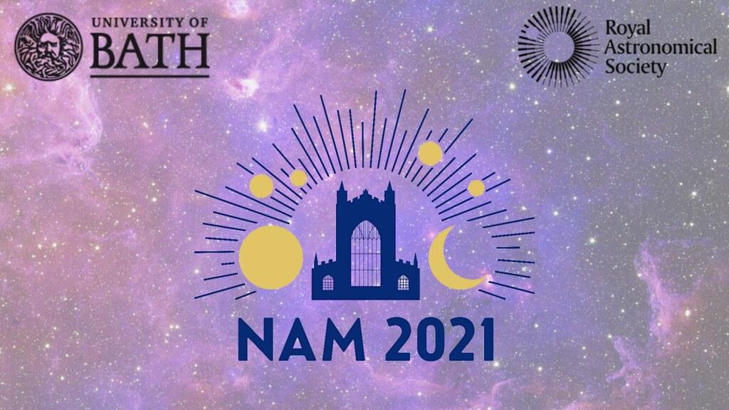 NAM 2021 logo on a starfield background