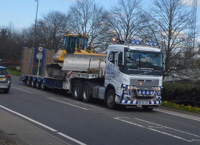 M & J Plant & Transport MJ20 JCB At Welshpool