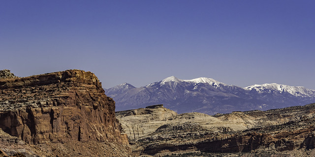 looking East from panorama point in Capitol Reef NP
