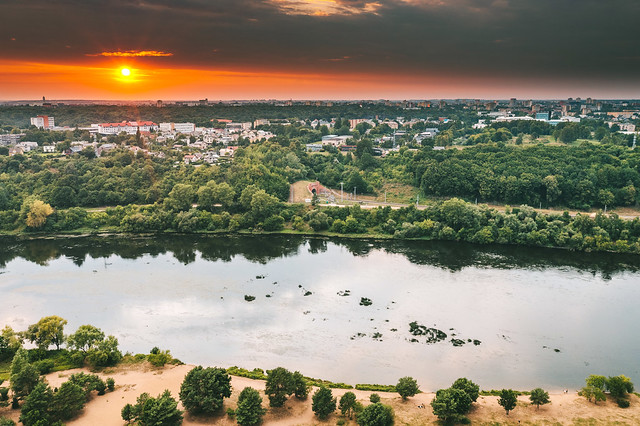 Sunset   Kaunas aerial #208/365