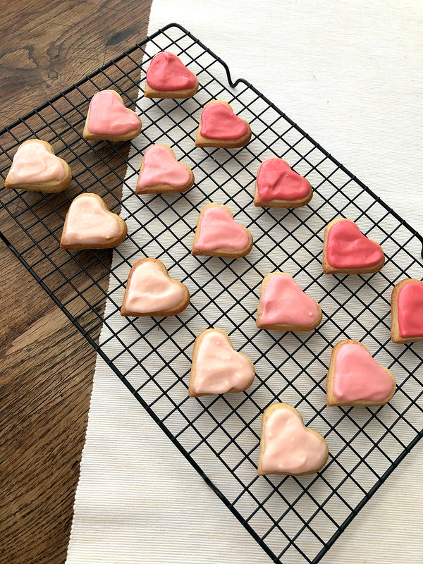 Heart Butter Cookies with Cream Cheese Frosting