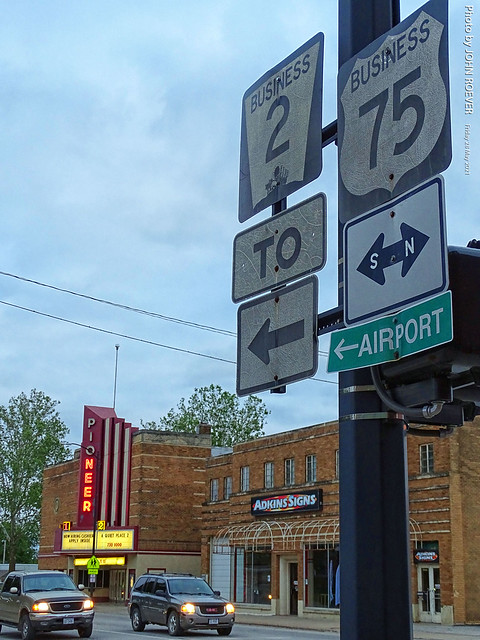 Shield signs and Pioneer Theater, 28 May 2021