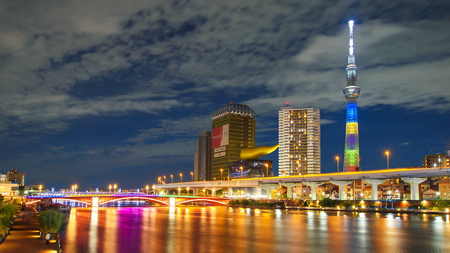 TOKYO SKYTREE AND THE ASAHI FLAME