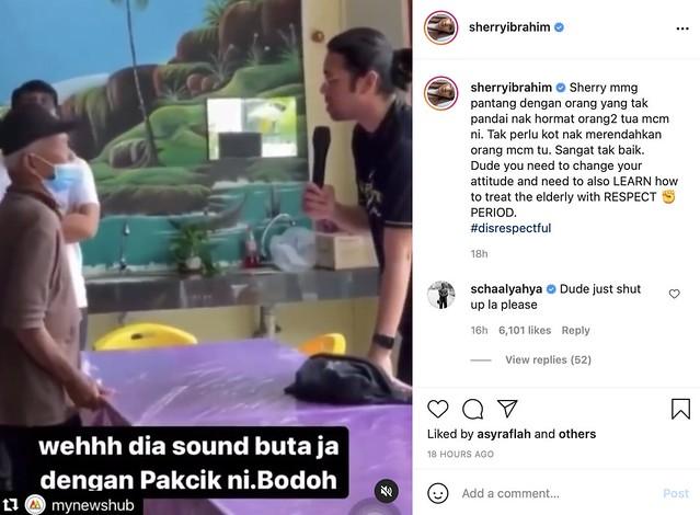 Video Influencer Biadap Dengan Warga Emas Tular, Ini Luahan Sherry Ibrahim