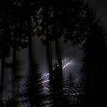 27. Juuli 2021 - 3:27 - Last night's storm in the Oregon Cascades near Dead Mountain.  There was lots of rain, so hopefully the lightning strikes did not result in wildfire.  So far, so good.