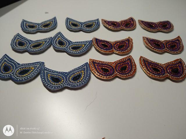Tiny little masquerade masks