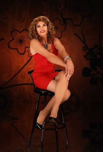 Skimpy red dress