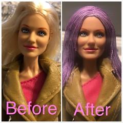 1OAK Charlie's Angels Natalie (Cameron Diaz) Doll Reroot