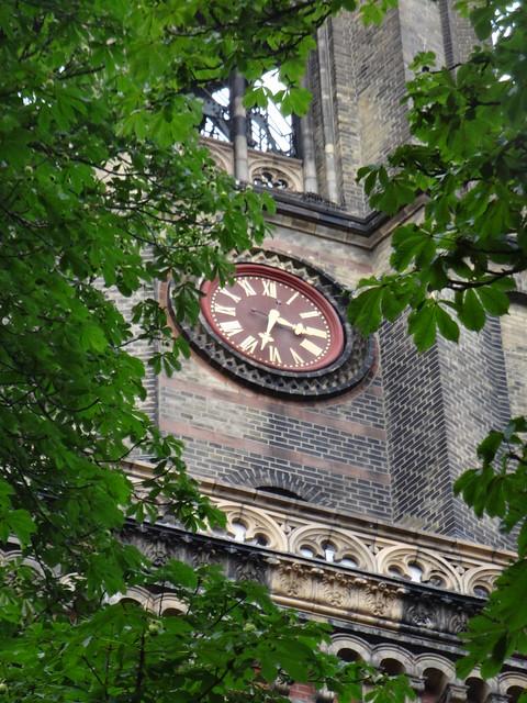 1866/73 Berlin Uhr am Dom des Nordens genannter evangelischer Zionskirche im Rundbogenstil 66mH von August Orth/Gustav Müller Zionskirchplatz in 10119 Mitte