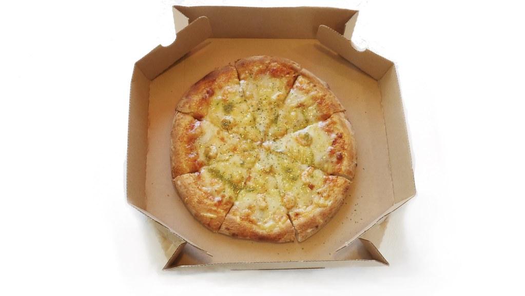 池海老とゴルゴンゾーラのピザ