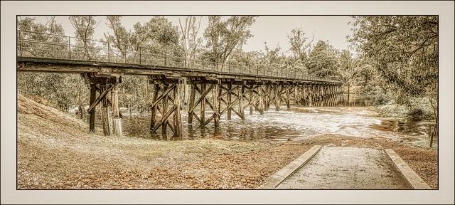 Footbridge, Blackwood River, Nannup, Western Australia