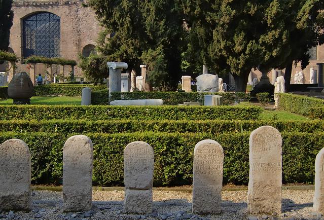 Open air sculpture garden, Museo Nazionale Romano, Terme di Diocleziano, Rome