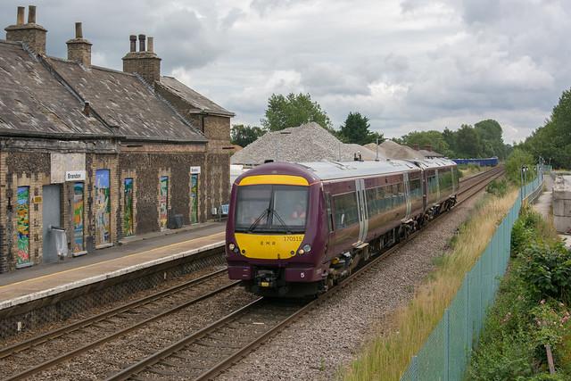 170515 Brandon 28/07/21 - 5R70 1057 Norwich to Grantham