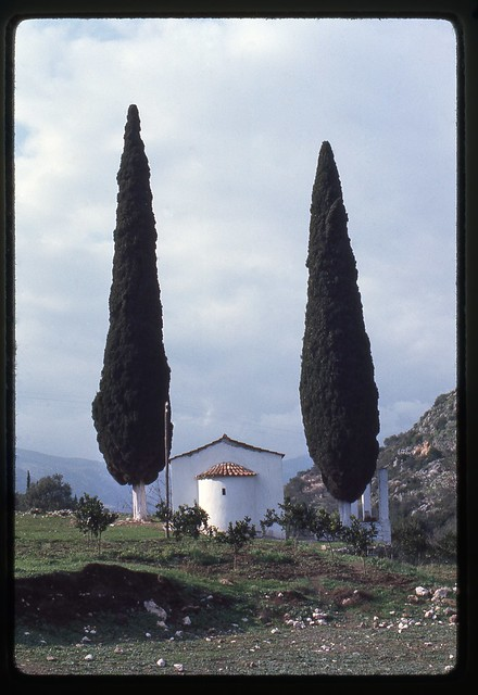 Country church on the road to Epidavros, Greece  Jan 1974