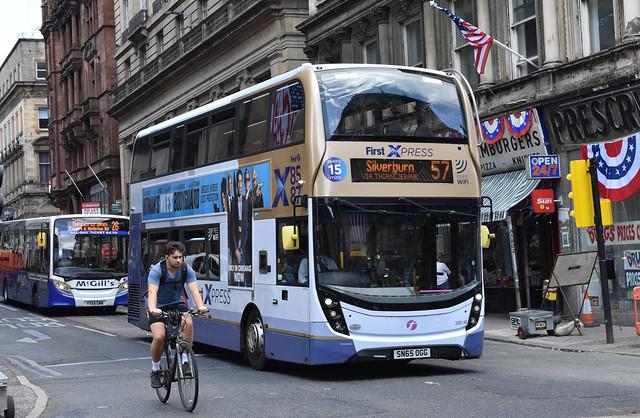 First Glasgow Alexander Dennis Enviro 400 MMC 33991HB Route 57