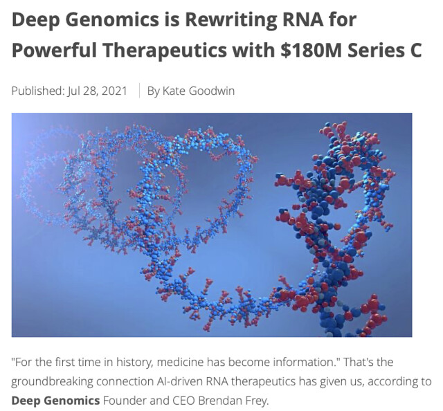 Welcoming Deep and some deep pockets to Deep Genomics!