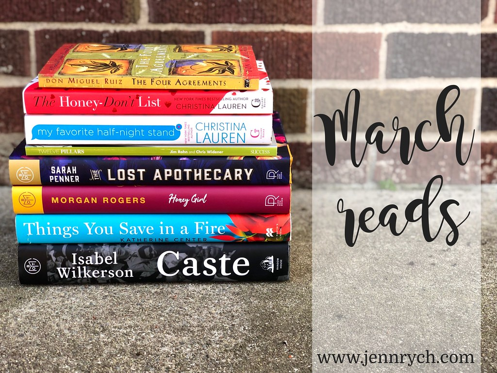 All the books I read in March   www.jennrych.com