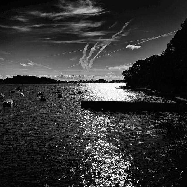 Lumière du soir sur le Golfe du Morbihan, Bretagne, France