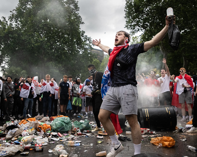 The trashing of Leicester Square