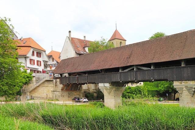 Holzbrücke in Aarberg BE 12.6.2021 1311