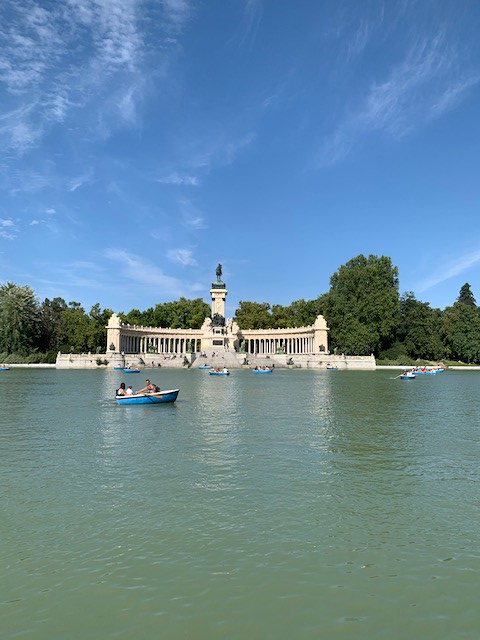 El Retiro park in Madrid