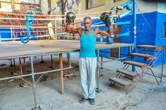 Boxing trainer in Rafael Trejo boxing gym, Havana, Cuba