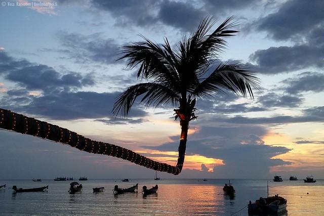 Auringonlasku Koh Taolla
