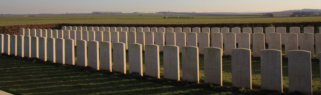 Waggon Road Cemetery, The Somme WW1. France.