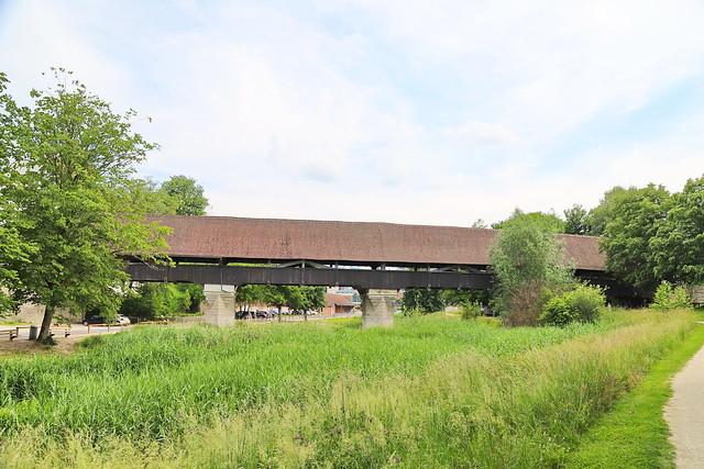 Holzbrücke in Aarberg BE 12.6.2021 1312