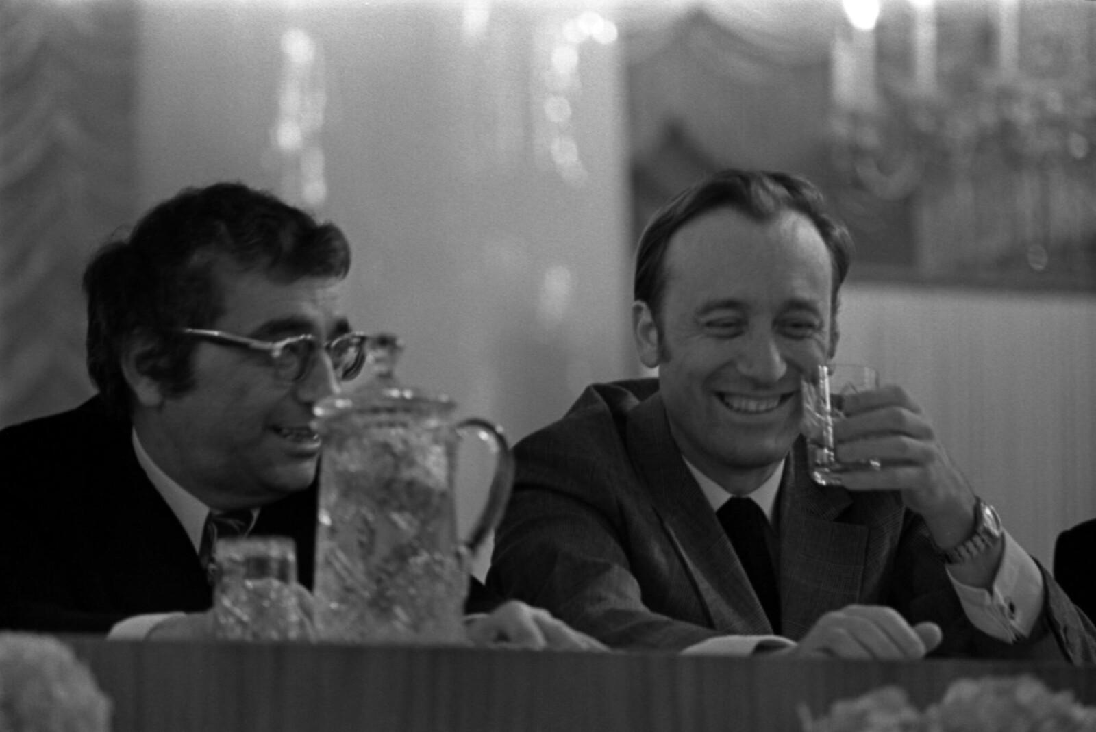 1972. Съезд Союза композиторов СССР в Колонном зале Дома Союзов, Кара Караев и Родион Щедрин