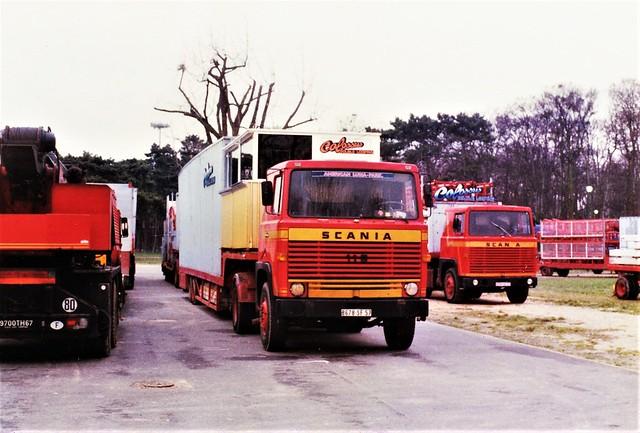 Scania LB 110 Foire du Trône Vincennes (94 Val de Marne) Avril 1990a
