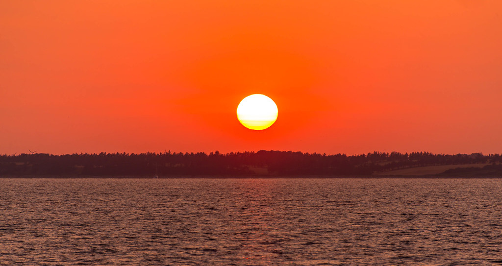 Sunset seen from Venø, DK, July 23. at 20:42