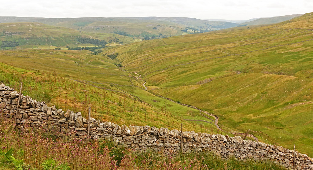 Looking into Swaledale.