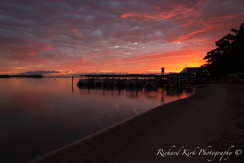 dawn goldenhour sunrise sky clouds river water silhouette landscape canon australia queensland noosaville sunshinecoast
