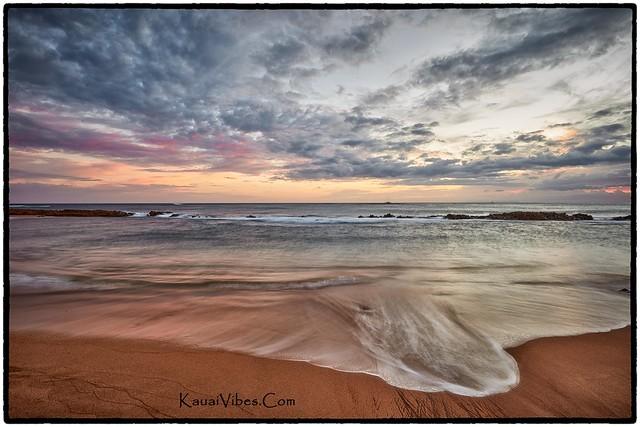 Sunset, Salt Pond Beach, Kauai.