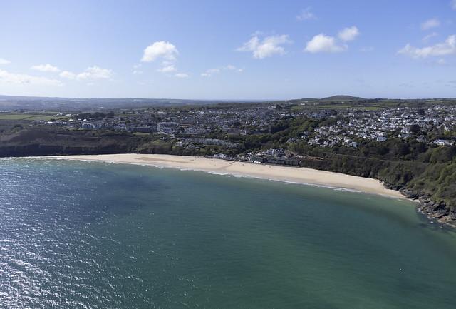 Carbis Bay aerial image - Cornwall